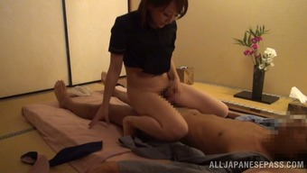 Japanese wifey enjoys multiposition sexual intercourse shortly before going to bed