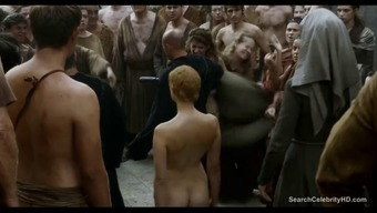 Movie star Lena Headey completely naked sequences from hdtv series