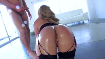 Severe anal passage POV images by using dazzling AJ Applegate