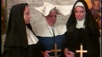 Malicious nun gets her buttocks spanked in a parody sex online video media