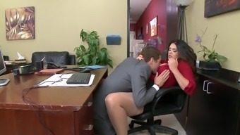 Intense hardcore in the workplace with major booty milf Alison Tyler,