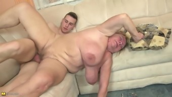 Old granny face fuck and fuck little boy's penis