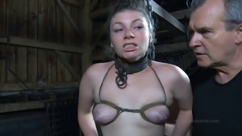 Big pickings slavery game nice booty getting spanked in BDSM