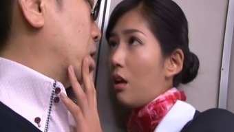 Notably delicious Japanese people stewardess gets lost extreme while you are on-board