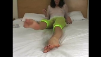 wc Shiny Feet to actually Cum Over