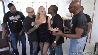 Sperm starved bitch Cherie Deville represents a variety of black cocks at a time