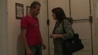 Naughty guy bangs his girl's old mama