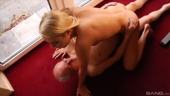 Brown utilizing a excellent body getting shagged through senior business office guy