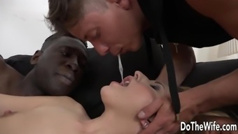 Horny black wife butt fucked by BBC when in front of boyfriend