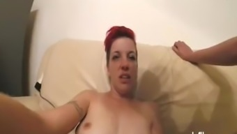Fisting her droopy youngster pussy awaiting the woman squirts
