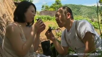 Lovely Japanese milf is taking pleasure in her mankind