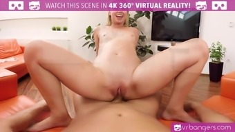 VR PORN-Sexy Blonde Archangel Piaff Get Her Pussy and Ejaculate