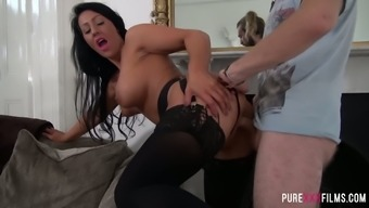 Outstanding suntanned confidential harlot in beyond compare product fucks in basic sex postures