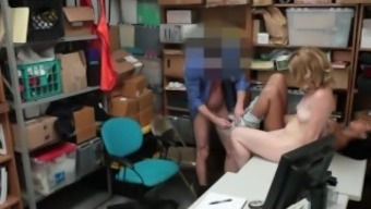 Young toy dolls Bonnie Grey and Maya Bijou get blackmailed into threesome sex