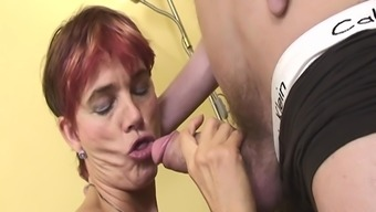 Elegant Granny Maid In Sexy Stockings Rectum Fucked