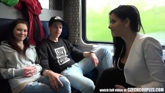 Quartet Sexual intercourse in Public TRAIN