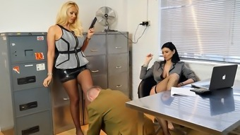 Horny employers transform workplace perv into pvc foot holy devotion profit stream