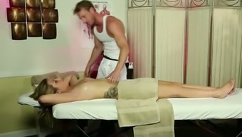 Sweet hooker Jenna Ashley drains her twisted masseur Ryan McLane off after massage session