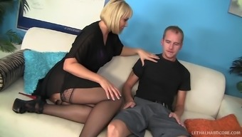 Definitely set tramp in stockings get fucked within a moist doggystyle pose