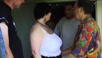 Big beautiful woman Franch granny Olga blowjob