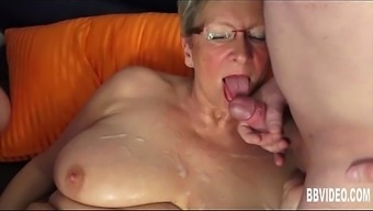 The german language granny fuck a couple of dicks