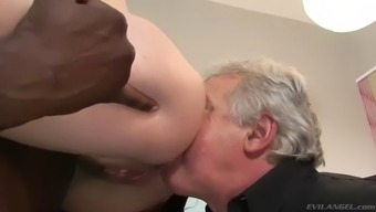 milf gets exploded by bbc when in front of disabled cuckold