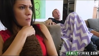 Stepsister Treats Mister In Front Of Mama