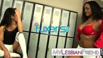 lesbian cheerleader cabinet area sex