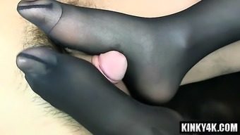 Heated version footjob with cumshot