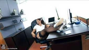 Sizzling homework Defrancesca Gallardo enjoys anus love-making with her boss