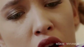 Horn-mad coed moaner Stella Cox is for that reason into wilderness MFF threesome with the prof