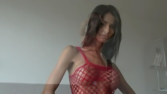 Skinny Czech with Large Tits Trys it on according to your needs