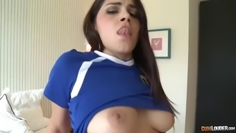 fuzzy the italian language pussy of thick valentina nappi is drilled by large spanish elevate