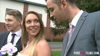 Groom's pal gets awesome blowjob to produce a changed future bride Victoria Hot months
