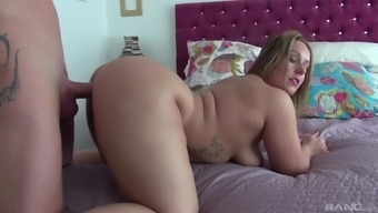 Plump black Ashley Passenger bends over for a fat cock