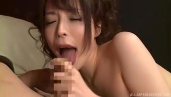 Stiff dick is all Japanese babe Kazama Yumi needs right now