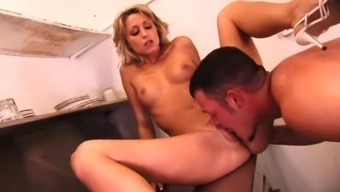 Hillary Scott superb blowjob gets repaid with pussy fingering