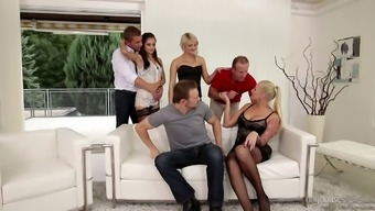 Swinger spouses trade husbands/wives for amazing anus sexual intercourse