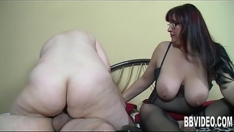 Two the german language ladies gets fucked in threesome