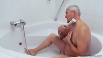 A Bath By using Grand father