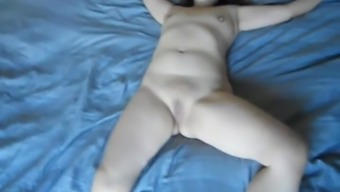 Oriental wifey involved and ready to be fucked by using huge dildo
