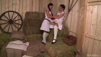 Athina Not only enjoy but her lesbian original honey sucking each other's cunts