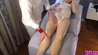Secret Cam at Massage session Parlour Anal passage Play