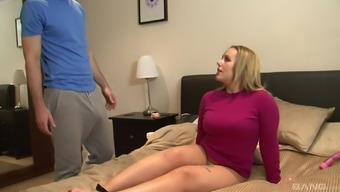 Hot chick Ashley Provision makes a cock disappear in their moist cunt