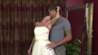 Stepmother Jodi West Fucks youngster in her bridal dress