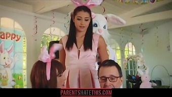 Teenager fucks mother's brother dressed up as Easter Bunny