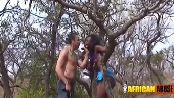 Interracial west african bdsm partners outdoor