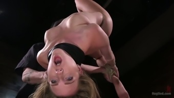 Flexible and horny bitch with long legs Ashley Lane thirsts for hardcore masturbation