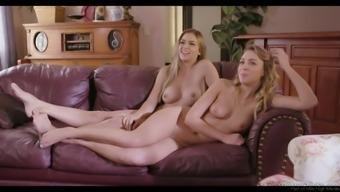 Nice backstage video of appetizing looking busty Sarah Vandella is must watch