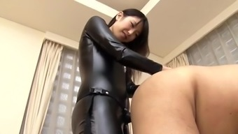 Japanese strapon hides girl